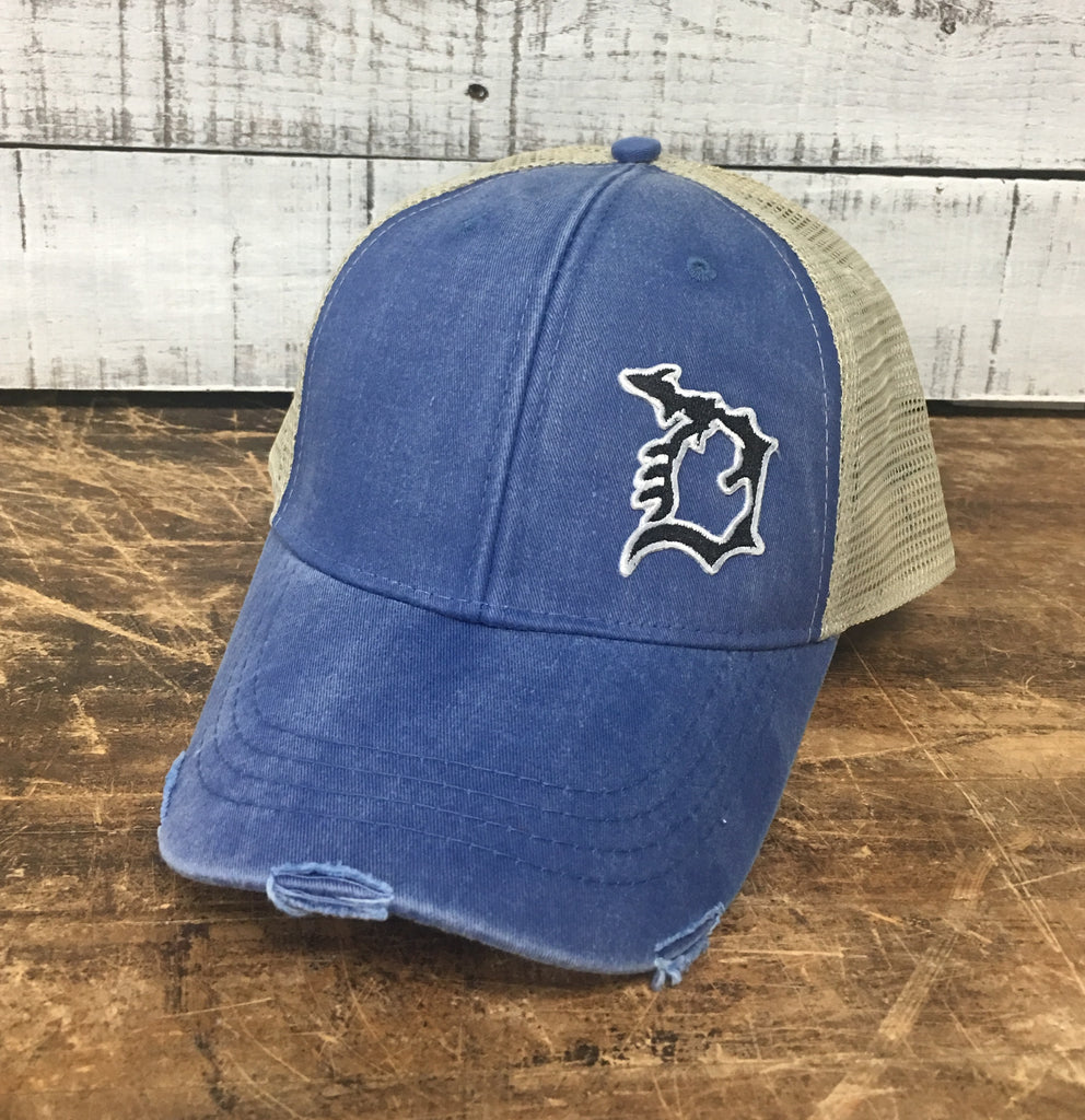 Michigan D Distressed Comfort Hat