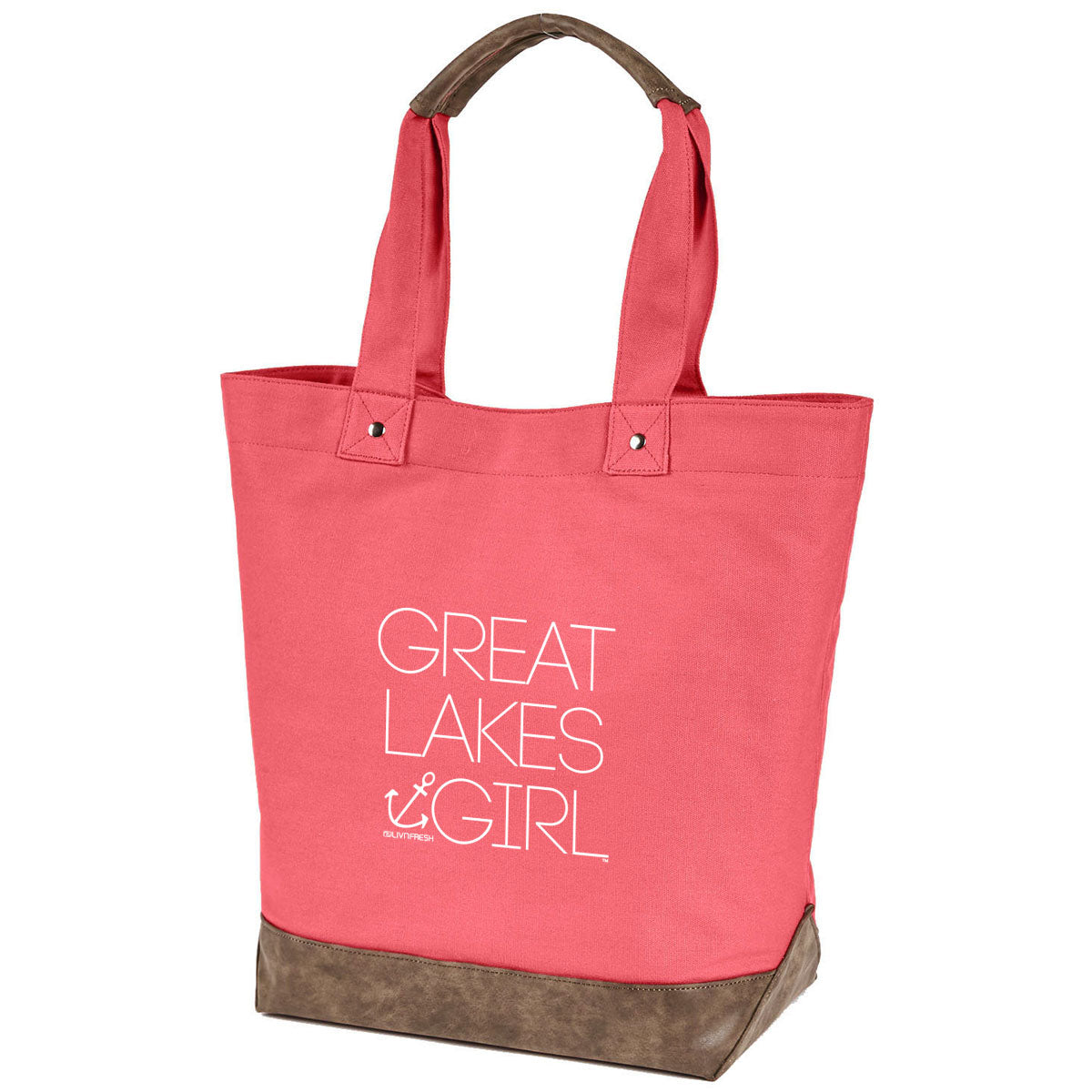 Great Lakes Girl Canvas Tote Bag