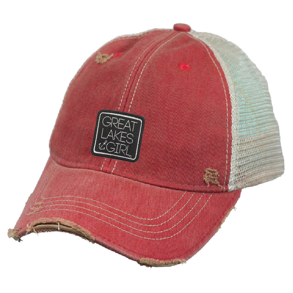 Great Lakes Girl Distressed Hat (Buckle back)