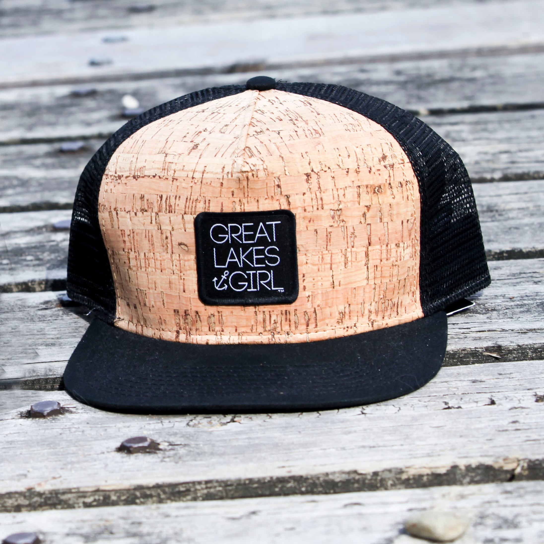 Great Lakes Girl Cork Flat Bill Hat-BUY ONE GET ONE FREE! USE CODE FREEHAT