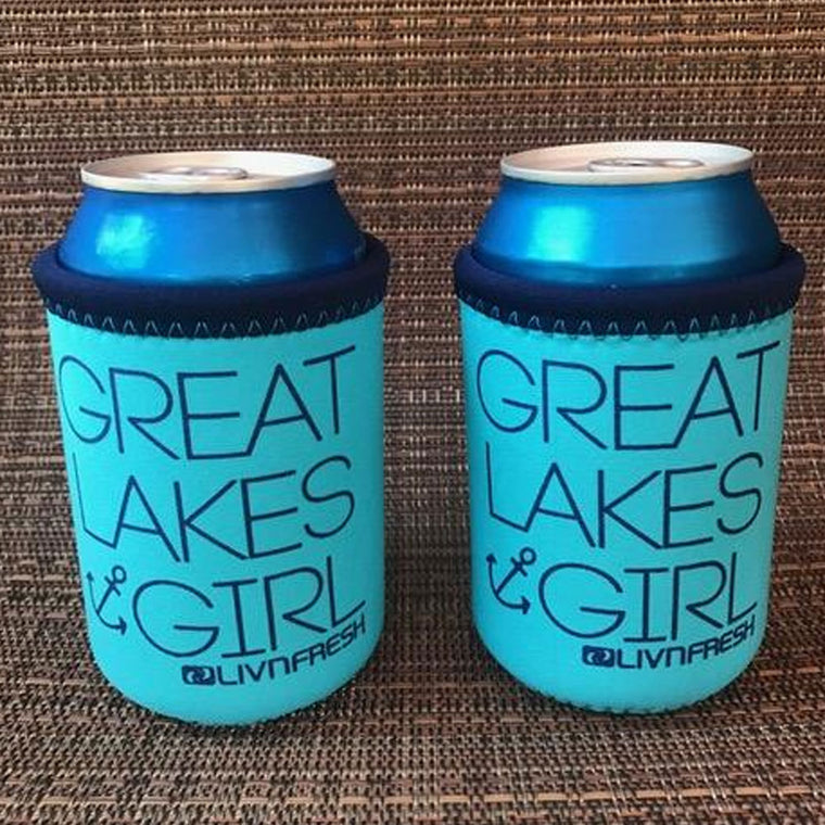 """Great Lakes Girl"" Koozie"