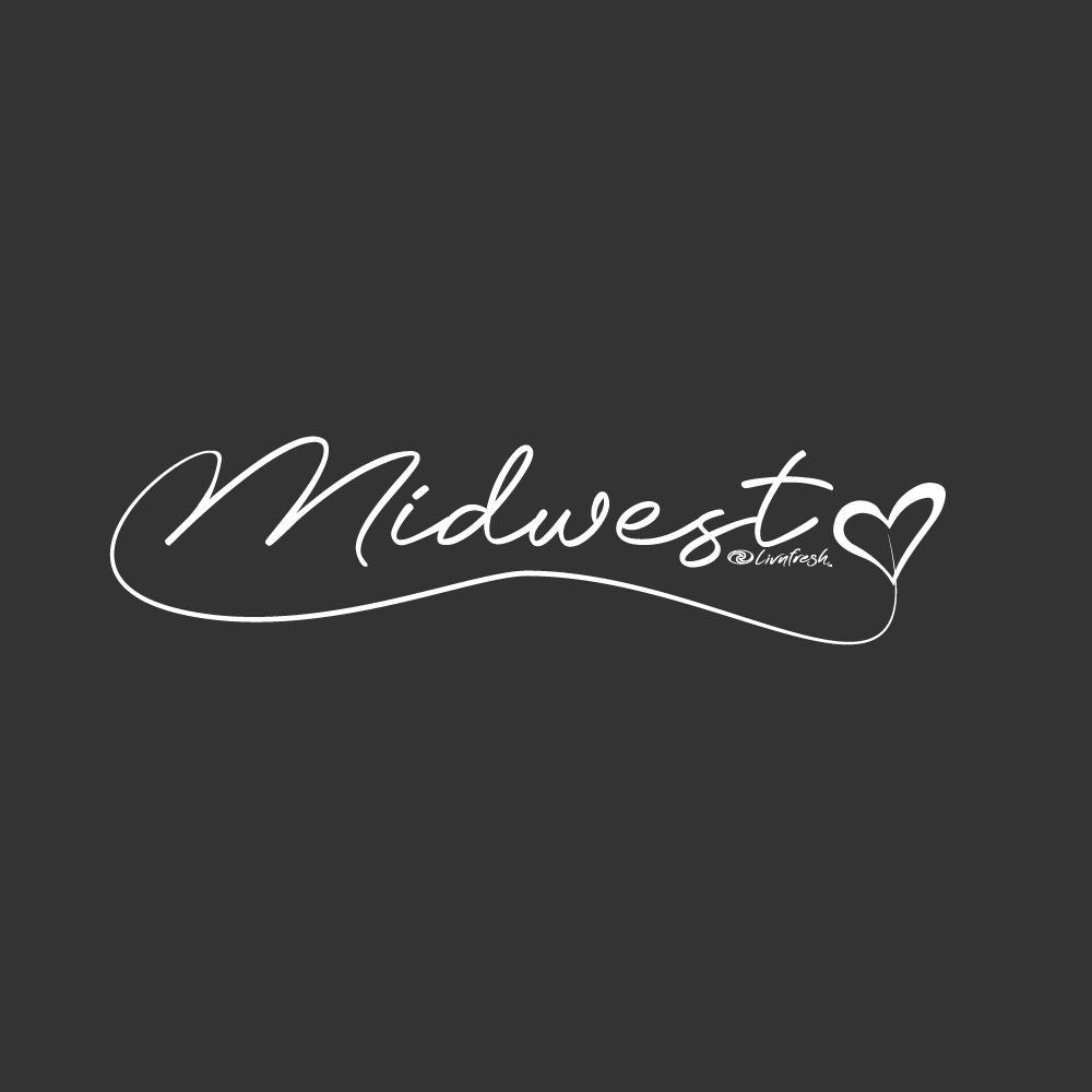 """Midwest Love"" Women's Fleece Funnel Neck Pullover Hoodie"