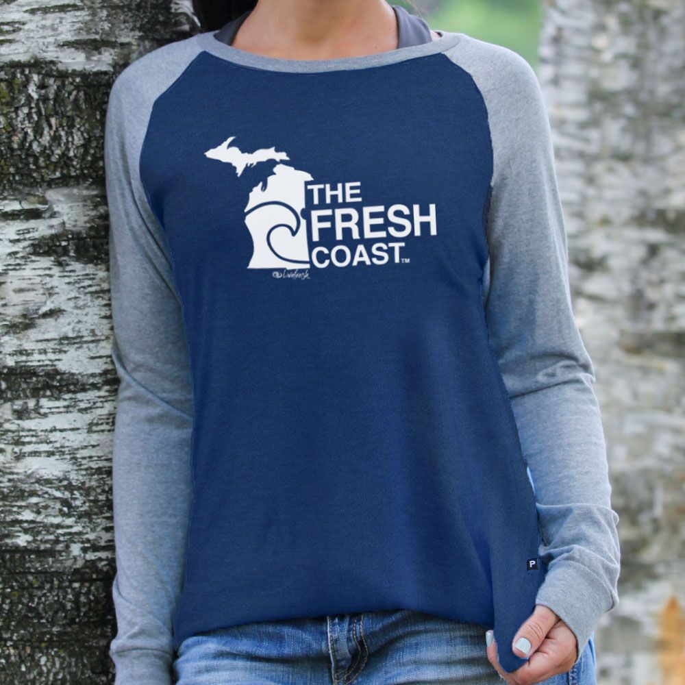 Michigan Fresh Coast Women's Raglan Jersey Crew