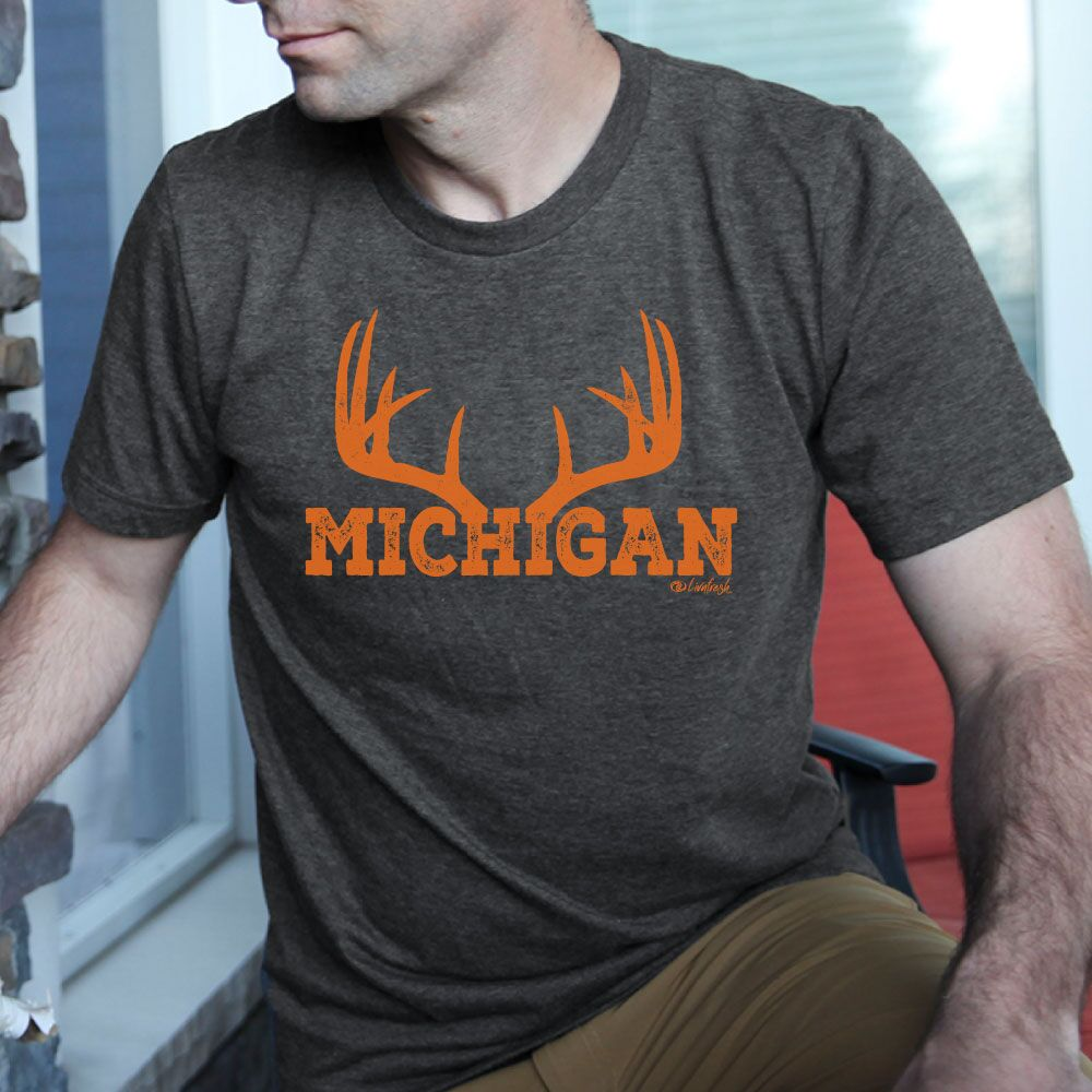 Michigan Antler Men's Crew T-Shirt