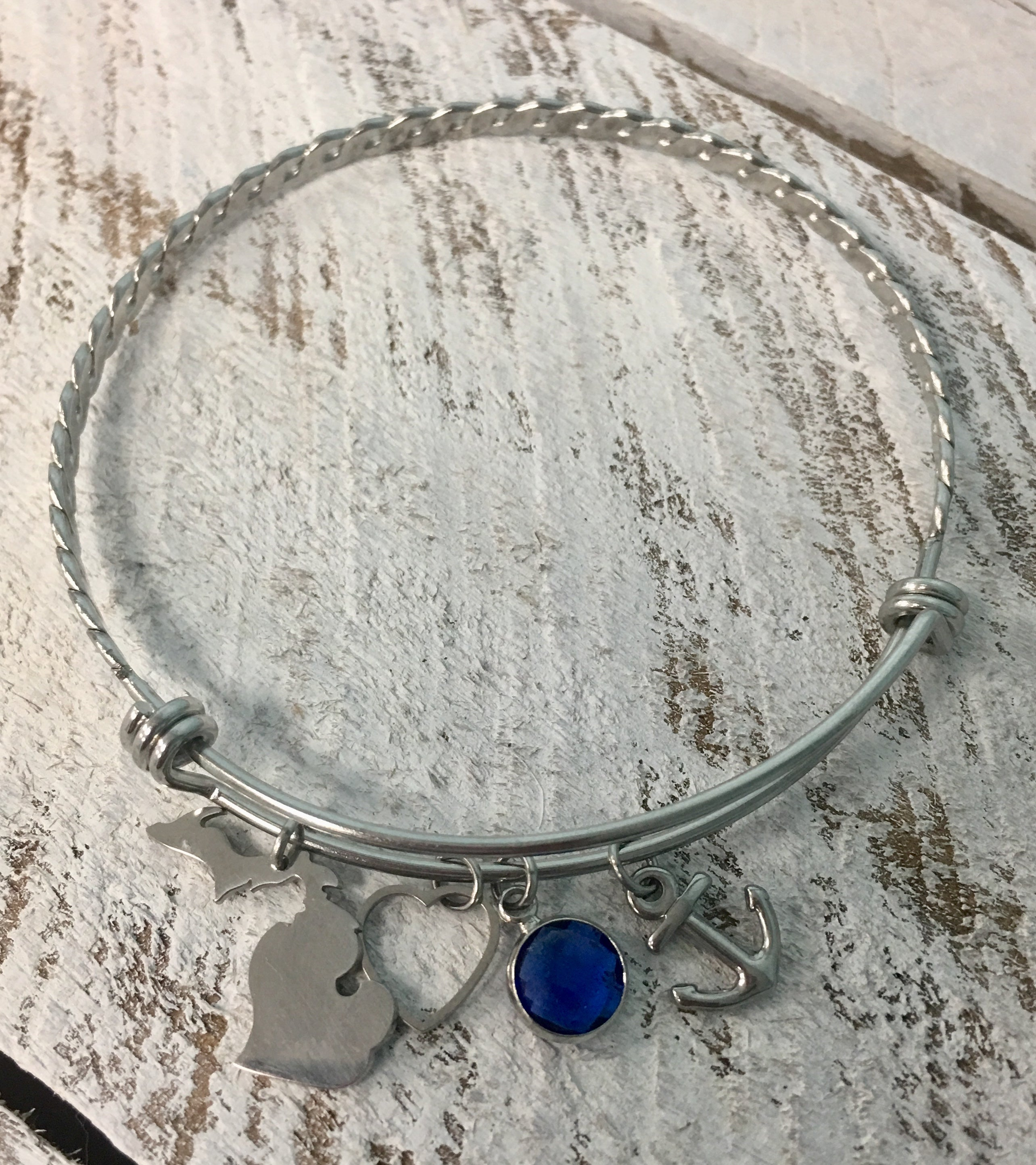 Michigan Bangle Bracelet- This Bracelet Says It All