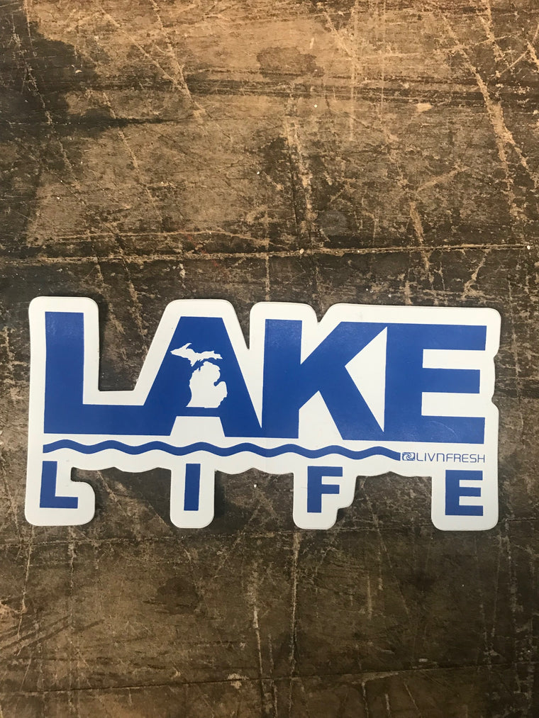 Michigan Lake Life Decal