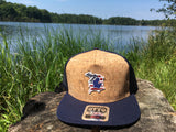 Michigan D Flag Cork Flat Bill Hat Navy