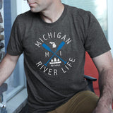 Michigan River Life Men's Crew T-Shirt