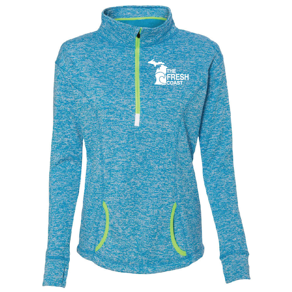 Michigan Fresh Coast 1/4 Zip Womens Performance Pullover