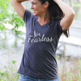 Live Fearless Women's V-Neck