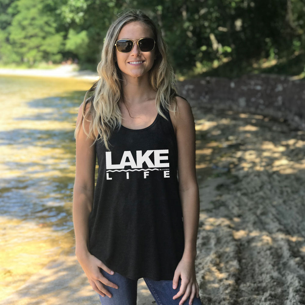 Coast to Coast Lake Life Womens Flowy Tank Top
