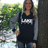 Coast to Coast Lake Life Women's Striped Chalk Terry Pullover