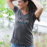 """Lake Life WAVES"" Women's V-Neck"