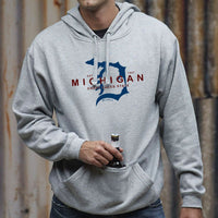 """Michigan D Established 1837"" Men's Tailgate Hoodie"
