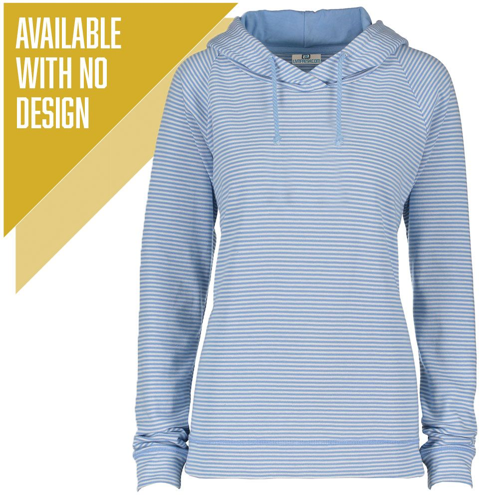 """Livn Simply"" Women's Striped Long Sleeve Fashion Hoodie"