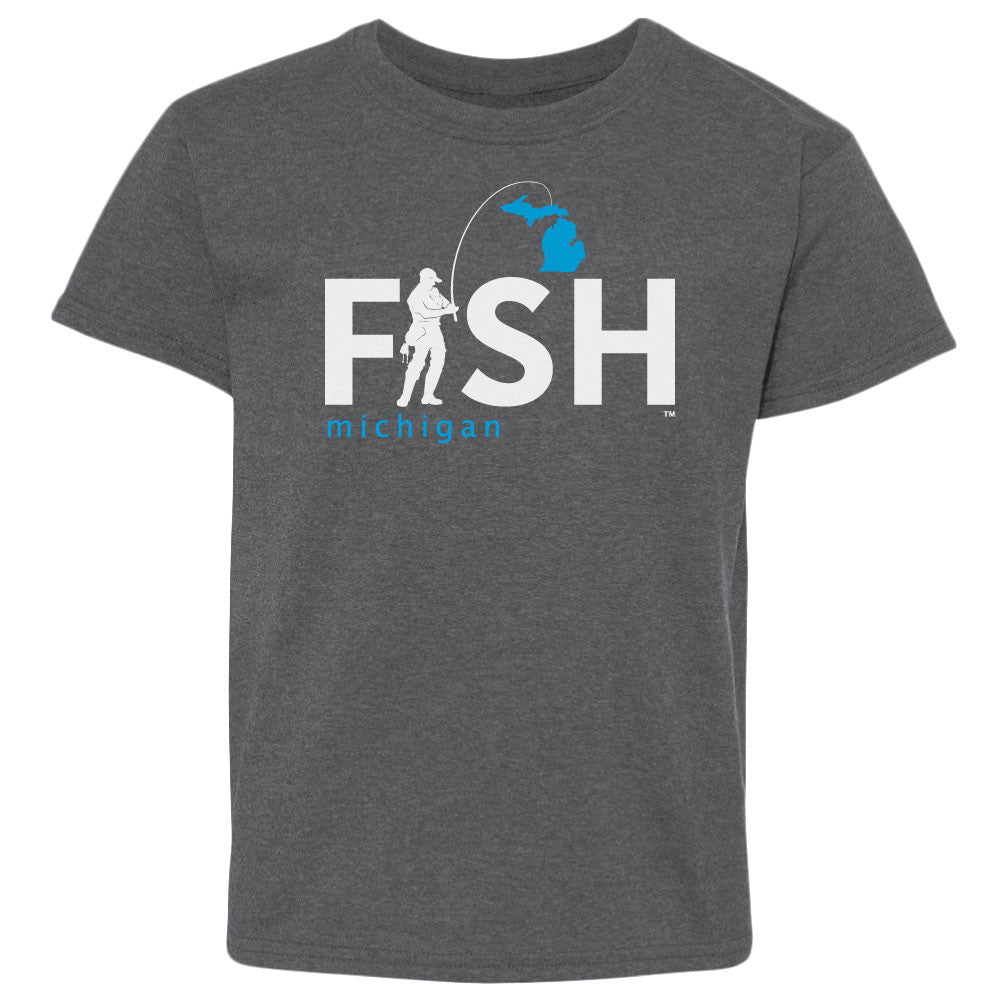 Michigan Fisherman Youth  T-Shirt