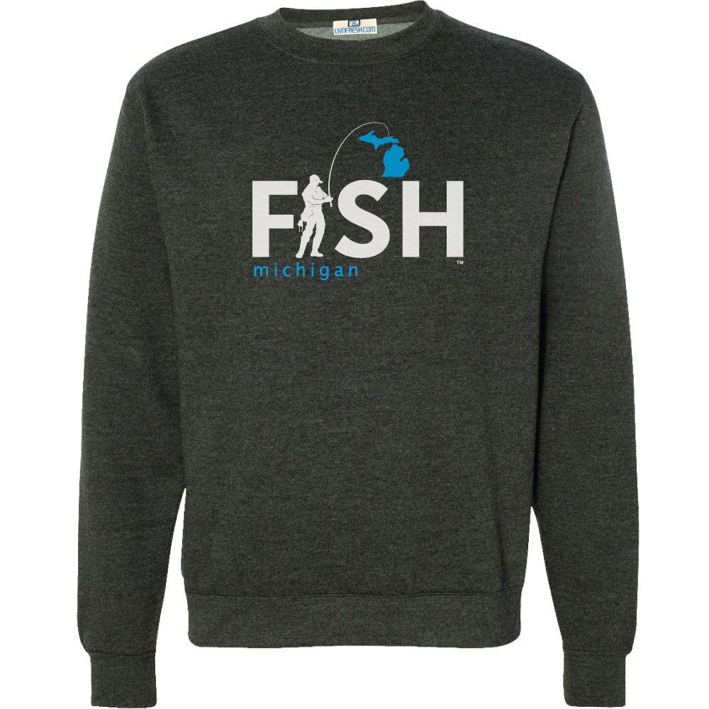 Michigan Fisherman Men's Crew Sweatshirt