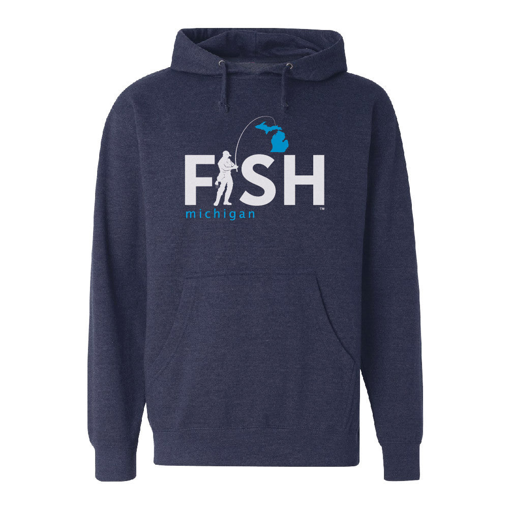 Michigan Fisherman Men's Basic Hoodie Navy
