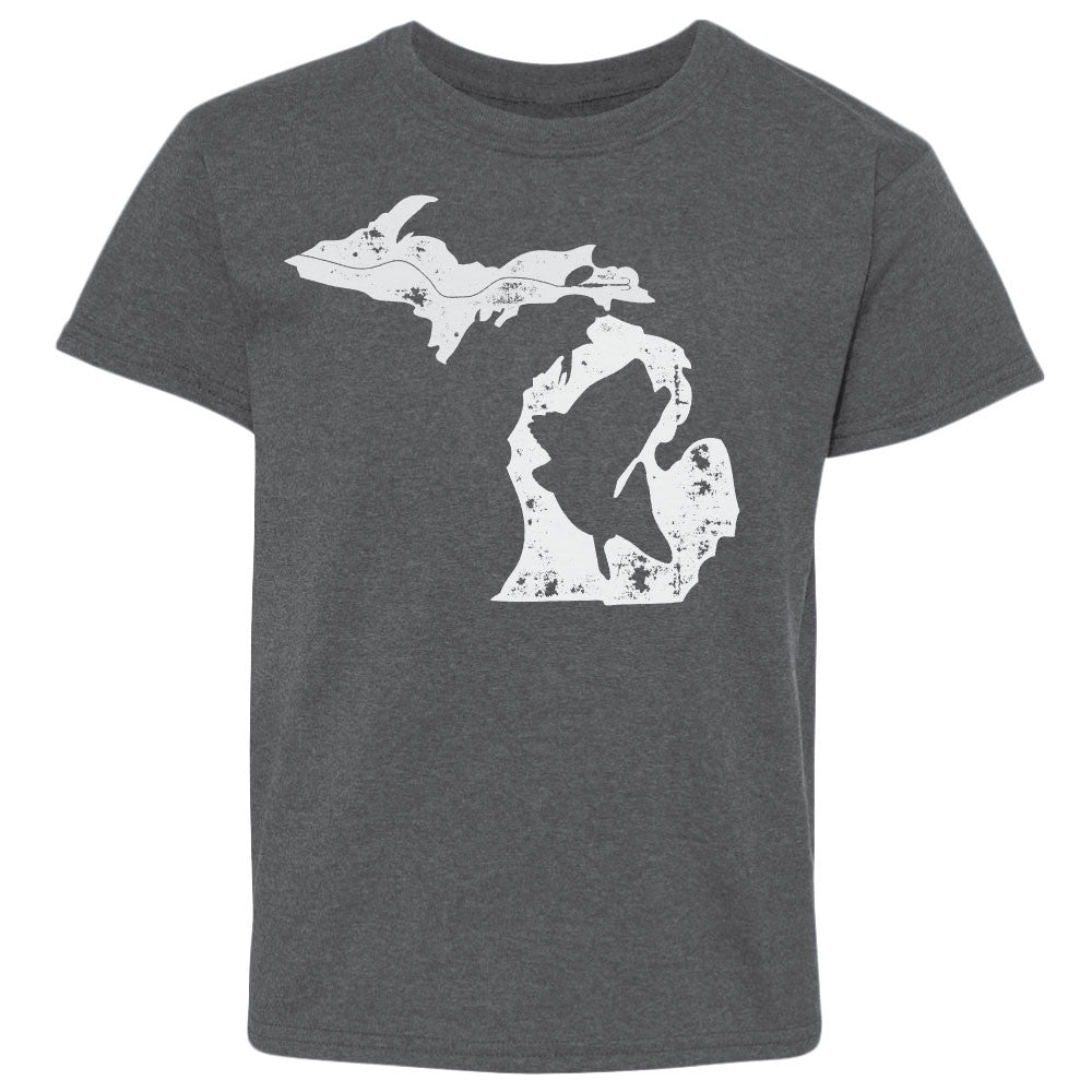 Michigan Fish State Youth T-Shirt Charcoal
