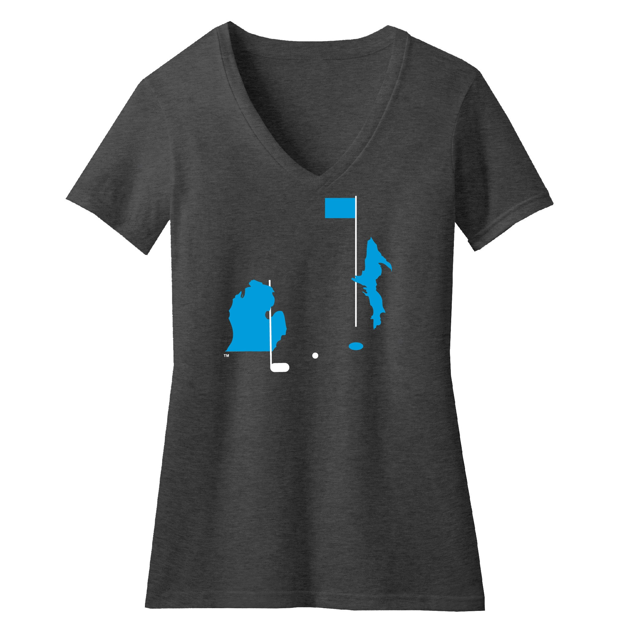 Michigan Golf Women's V-Neck