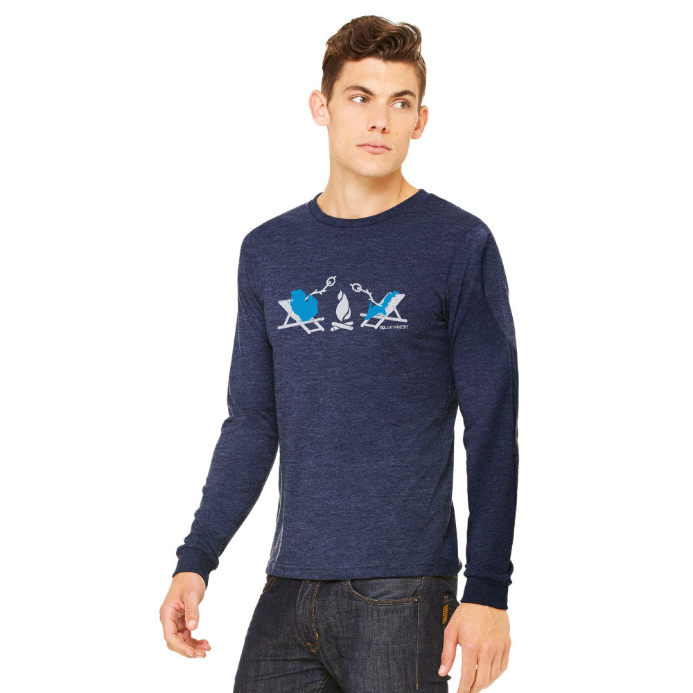 Michigan Campfire Mens Long Sleeve T-Shirt