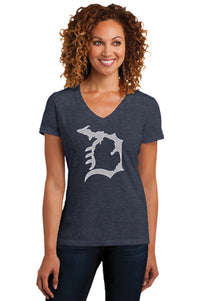 Michigan D Womens V-Neck