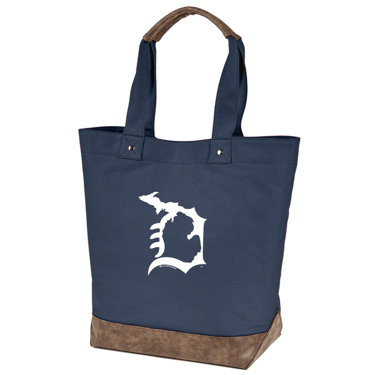 Michigan D Canvas Tote Bag