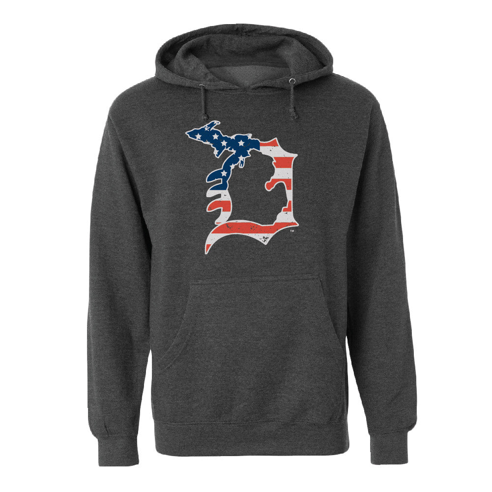 Michigan D Flag Unisex Basic Hoodie
