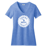 Michigan Drink Local Beer Women's V-Neck Royal