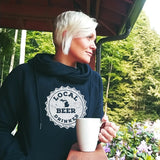Michigan Drink Local Beer Womens Fleece Funnel Neck Pullover Hoodie