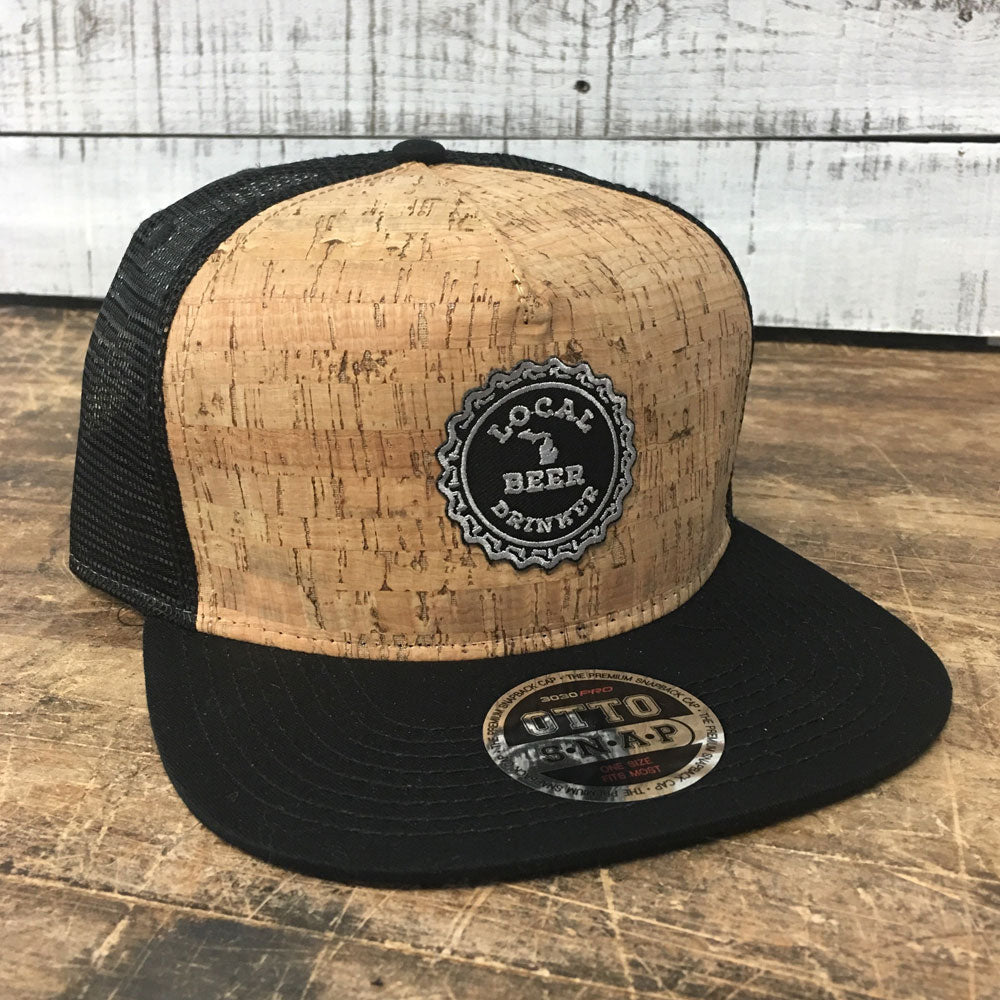 Michigan Drink Local Cork Flat Bill Hat-BUY ONE GET ONE FREE! USE CODE FREEHAT