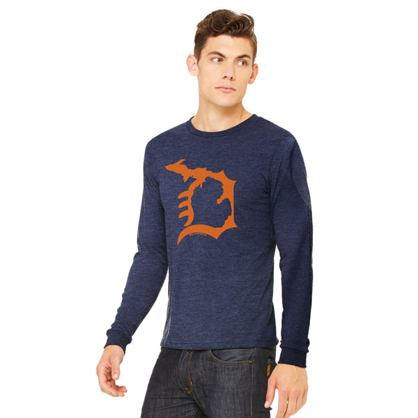 Heather Navy/Orange / S