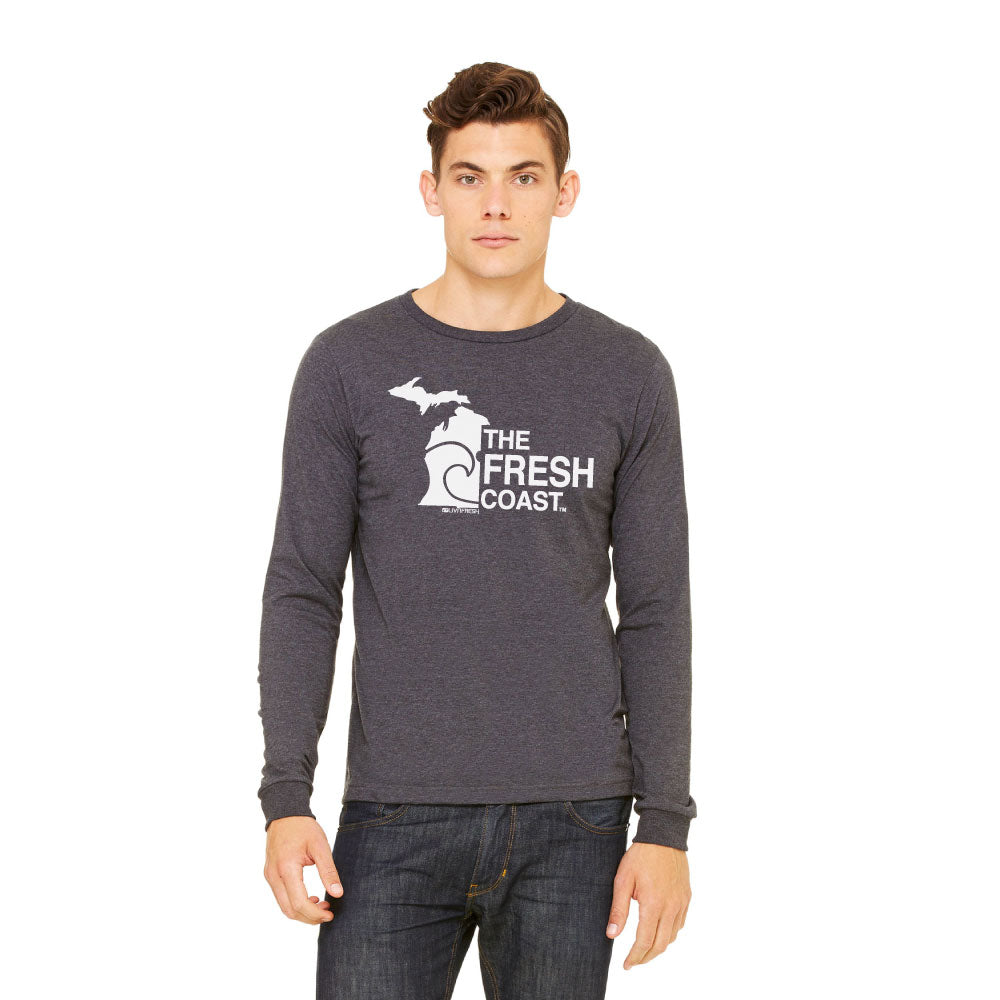 Michigan Fresh Coast Mens Long Sleeve T-Shirt