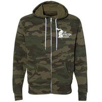 """Michigan Fresh Coast"" Men's Full Zip Camo Hoodie"