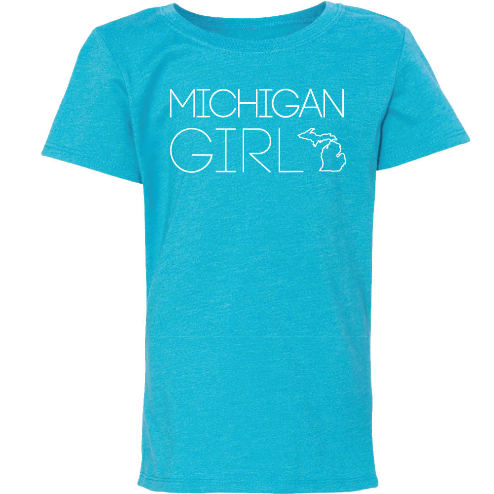 Michigan Girl Youth Princess T-Shirt