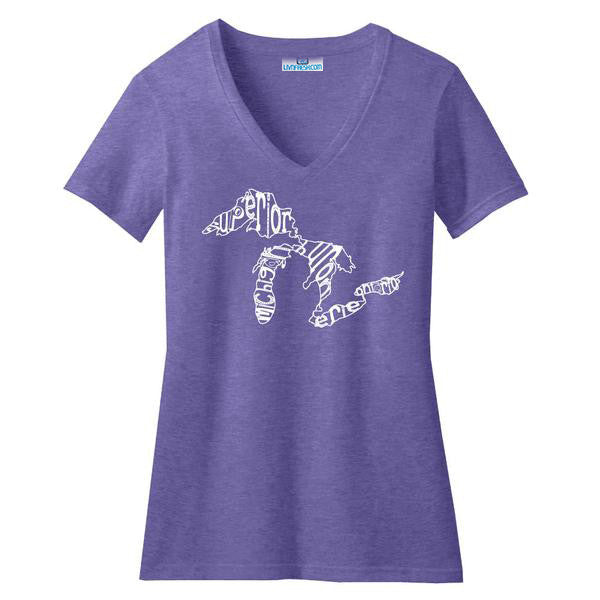 Great Lakes Words Womens V-Neck