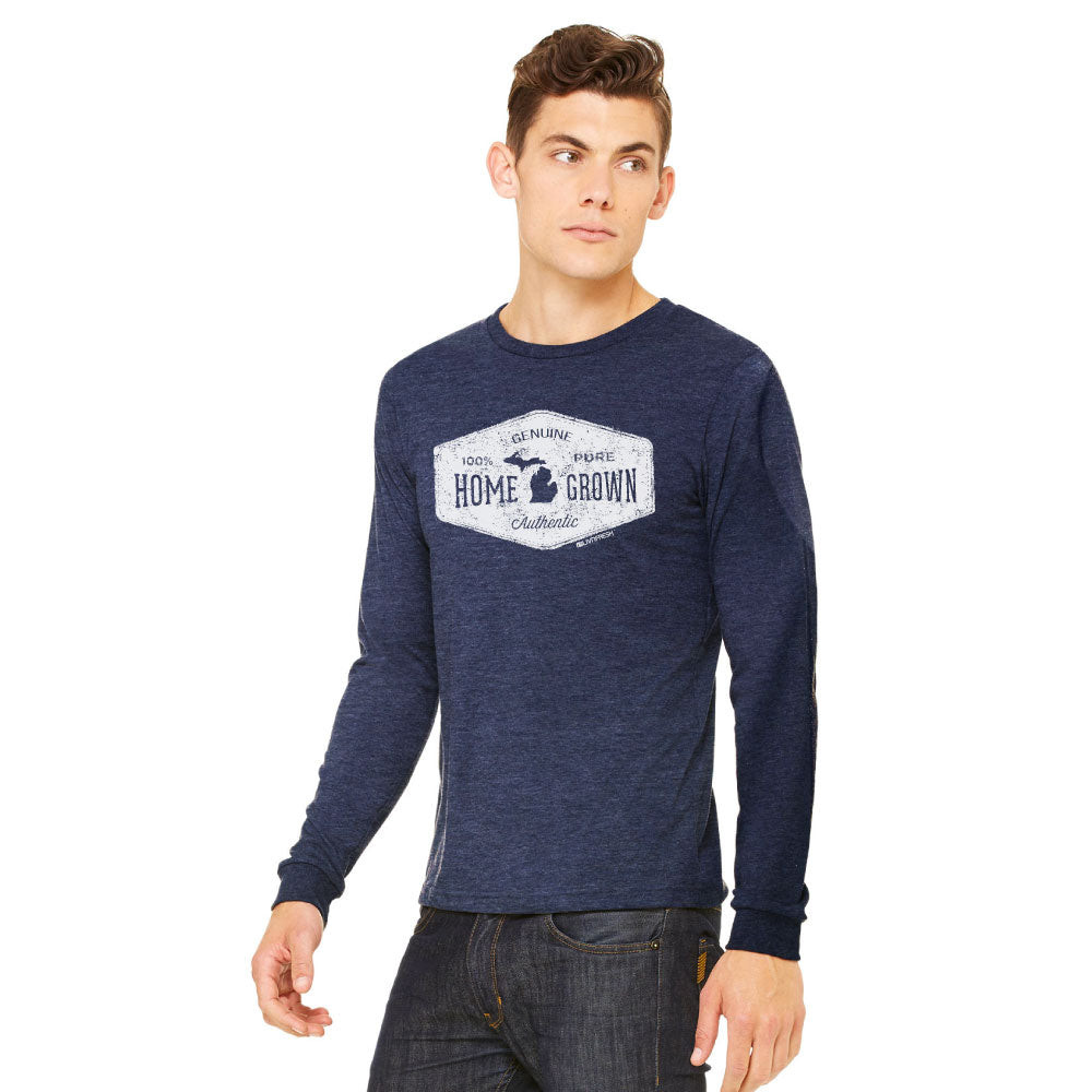 Michigan Home Grown Mens Long Sleeve T-Shirt
