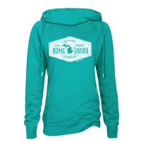 Michigan Home Grown Womens Fleece Funnel Neck Pullover Hoodie