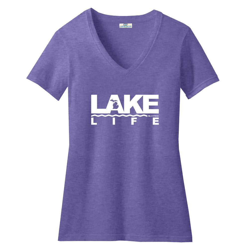 Michigan Lake Life  Womens V-Neck
