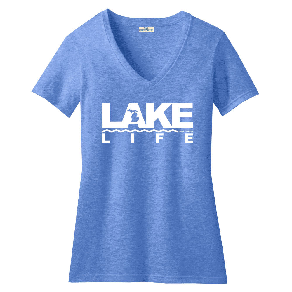 Michigan Lake Life  Women's V-Neck