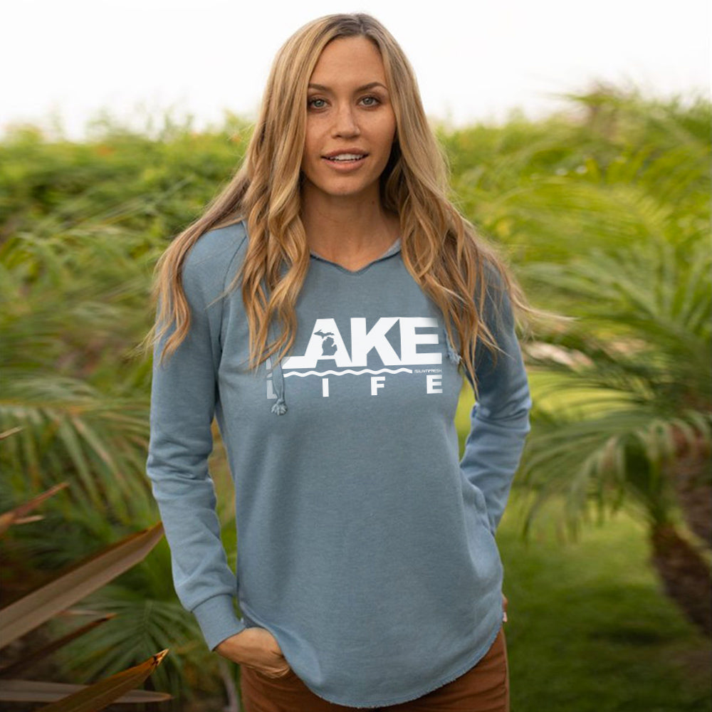 Michigan Lake Life Women's Ultra Soft Wavewash Hoodie