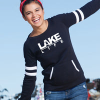"""Michigan Lake Life"" Women's Varsity Fleece Crew Sweatshirt"