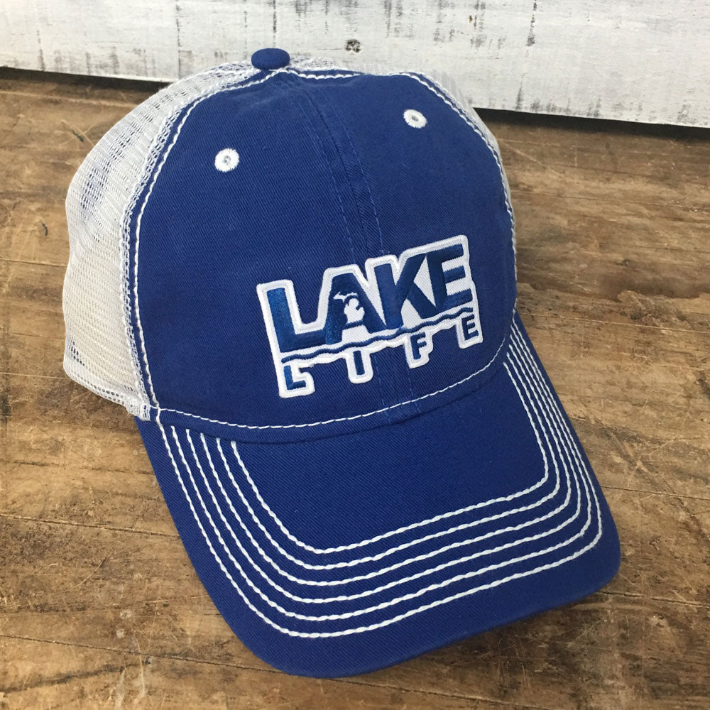 Michigan Lake Life Mesh Back Baseball Cap