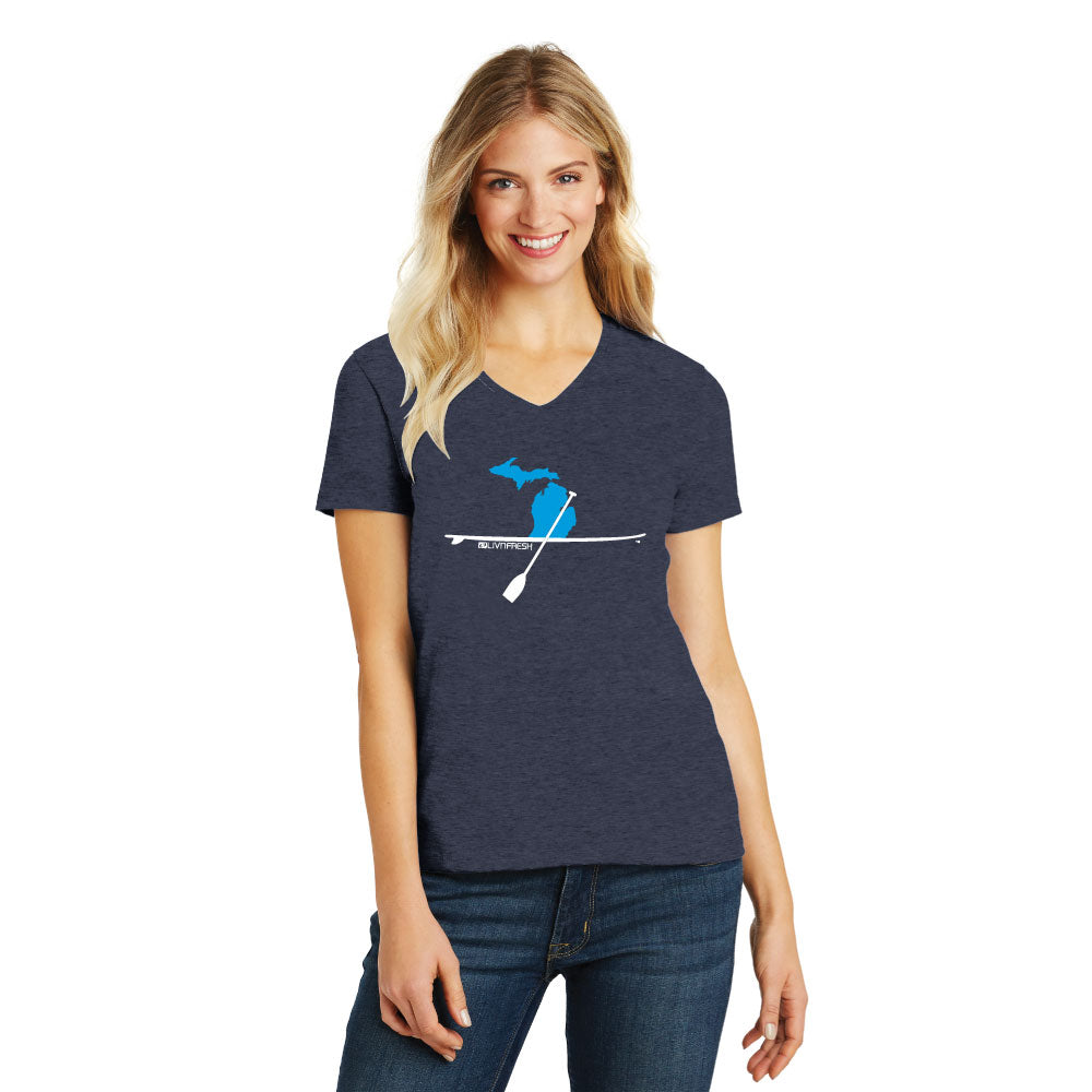 Michigan Paddle Board Women's V-Neck