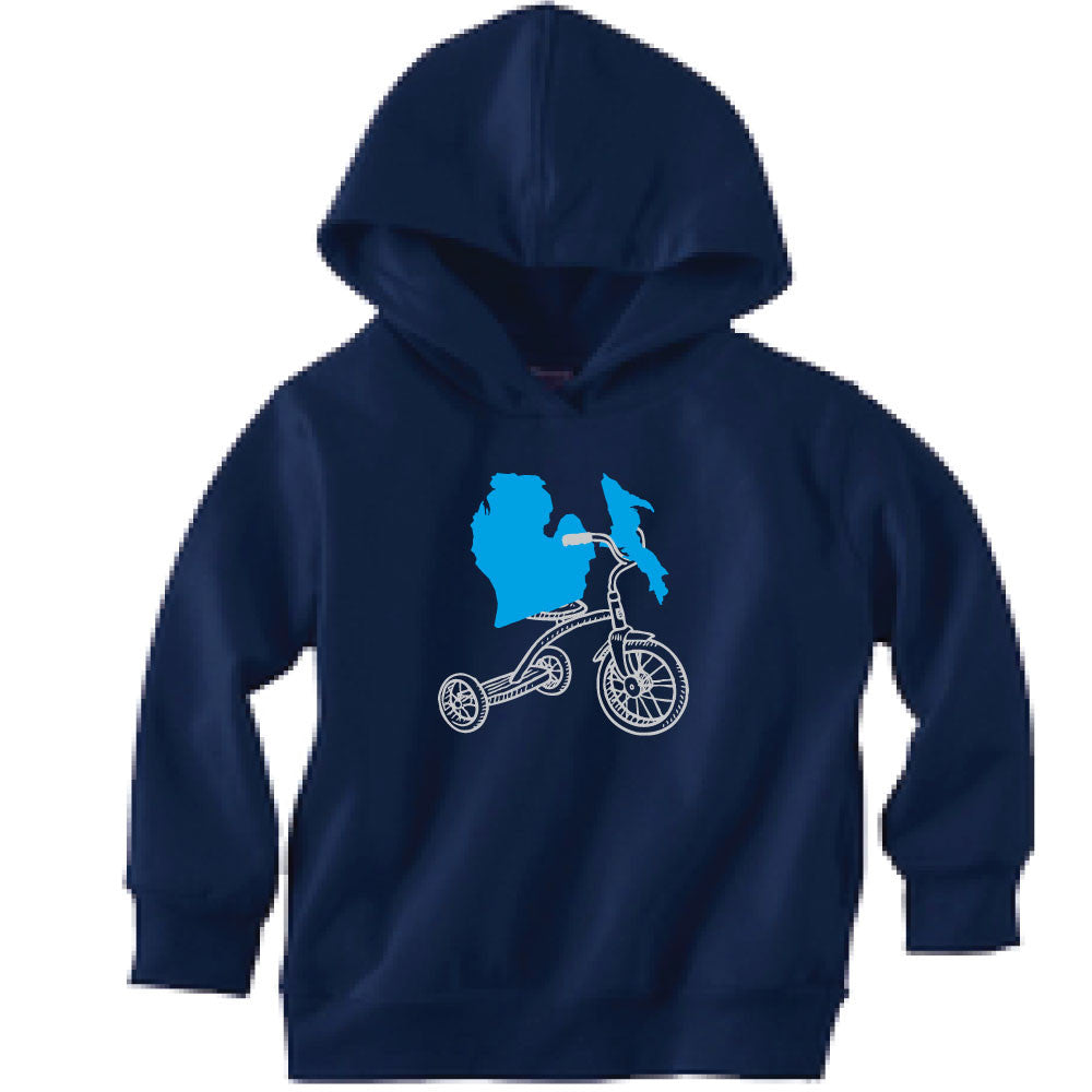 Michigan Tricycle Toddler Hooded Sweatshirt