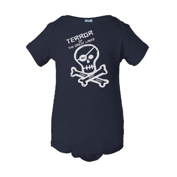Fresh Coast Pirate Infant Onesie Navy