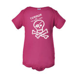 Fresh Coast Pirate Infant Onesie Pink
