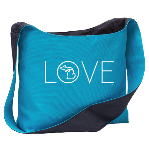 Michigan Love Long Canvas Sling Bag