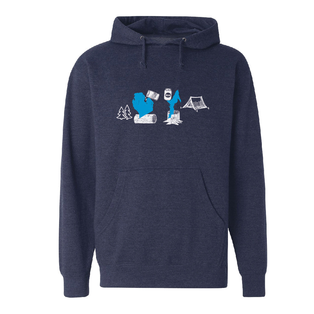 Michigan Beer Camp Unisex Basic Hoodie
