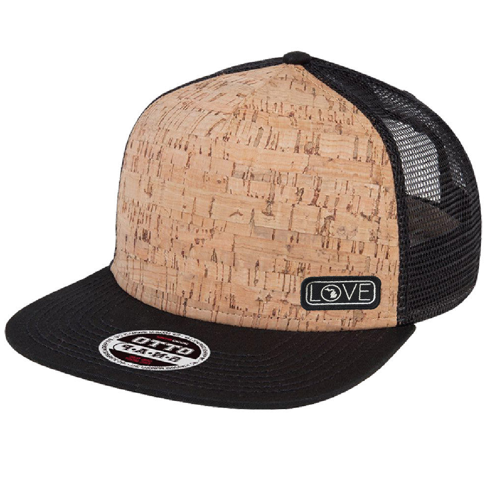 Michigan Love Cork Flat Bill Hat-BUY ONE GET ONE FREE! USE CODE FREEHAT